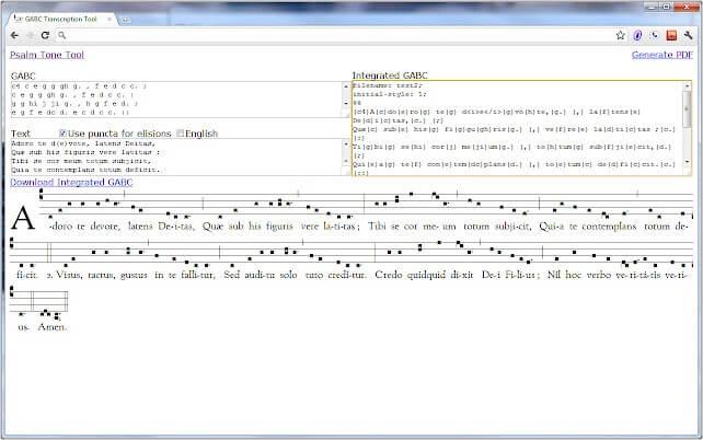 GABC Transcription Tool Google Chrome extension