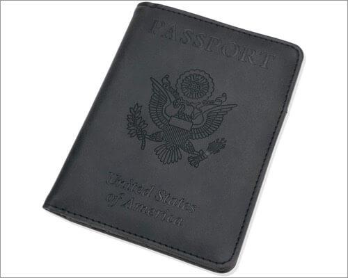GDTK leather passport holder for traveling