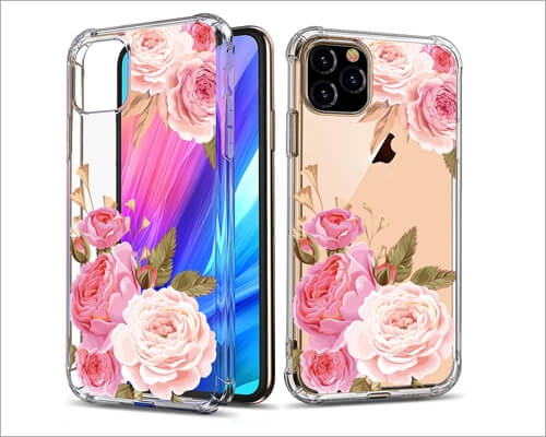 GREATRULY iPhone 11 Pro Floral Case for Girls