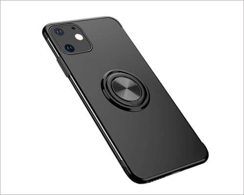 GRKJGytech Ring Holder Car Magnetic Case for iPhone 11