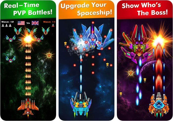 Galaxy Attack Alien Shooter iPhone and iPad Game Screenshot
