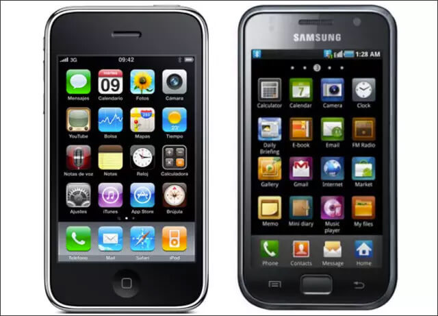 Galaxy S phone retains the same design that of iPhone 3G