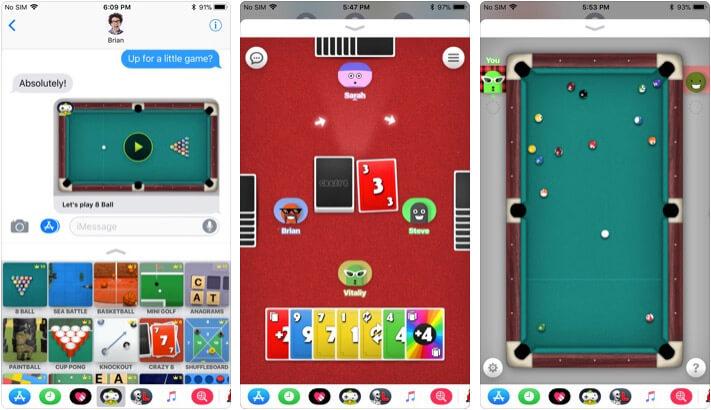 Game Pigeon iMessage Game App Screenshot