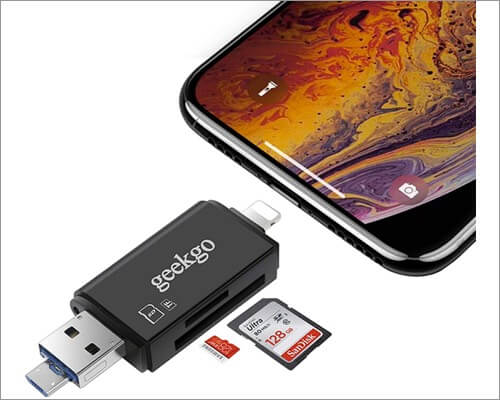 Geekgo Lightning to SD Card Camera Reader for iPhone and iPad