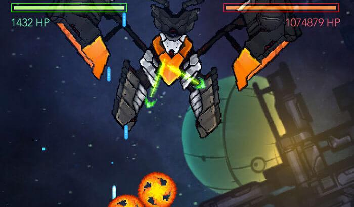 Gemini Strike Space Shooter iPhone and iPad Game Screenshot