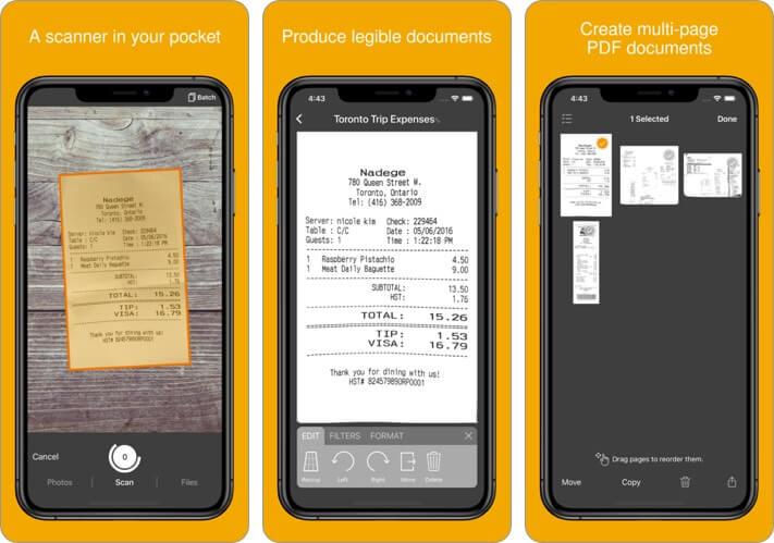 Genius Scan iPhone and iPad App Screenshot