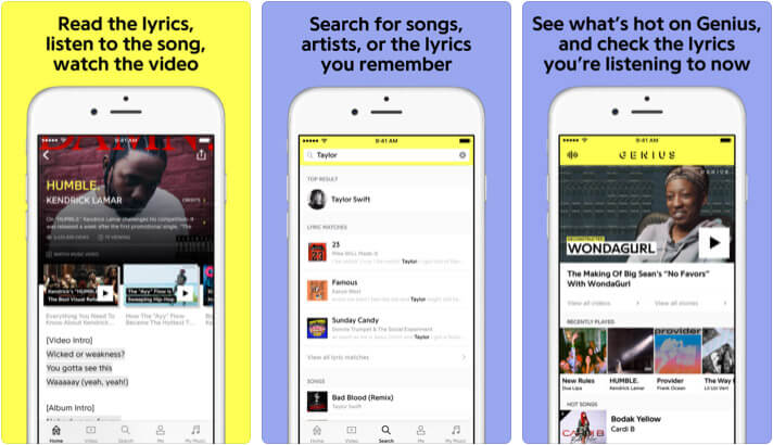 Genius iPhone and iPad Hip-Hop App Screenshot