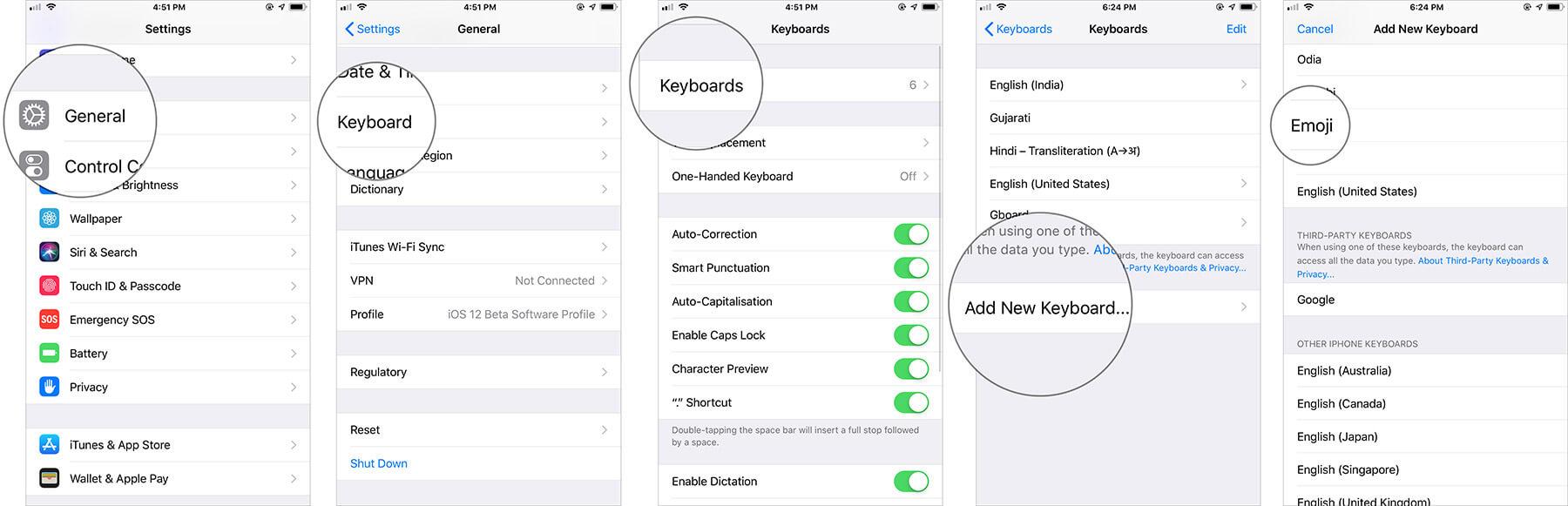 Get Emoji on iPhone Keyboard