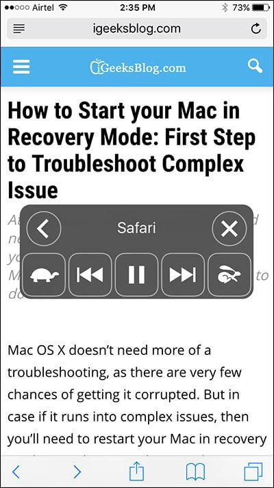 Get Siri Read Webpage on iPhone and iPad