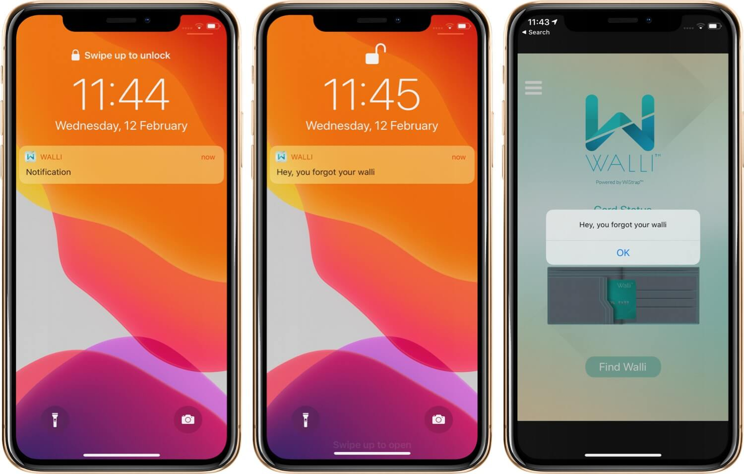Get Walli App Notification on iPhone When You Leave Your Wallet