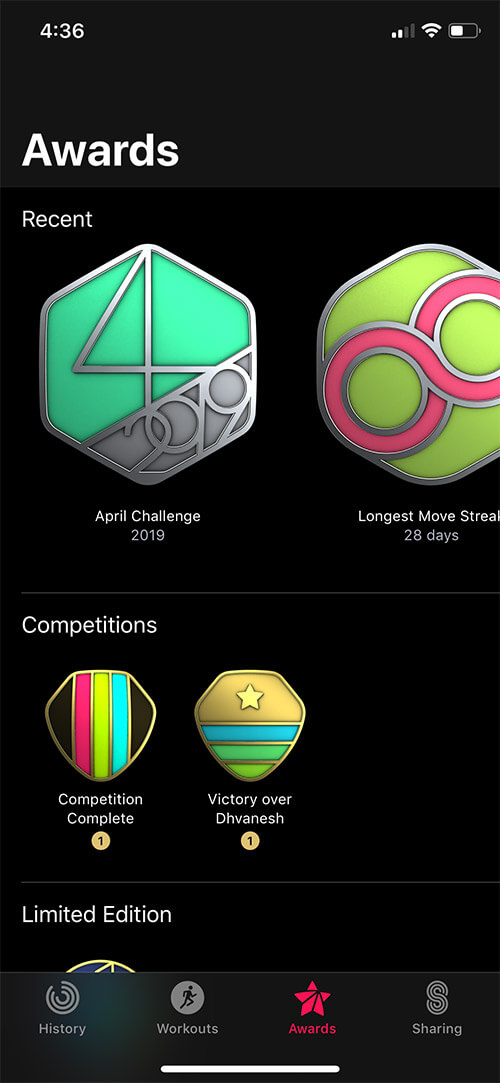 Get to Know Your Awards in Activity App on iPhone