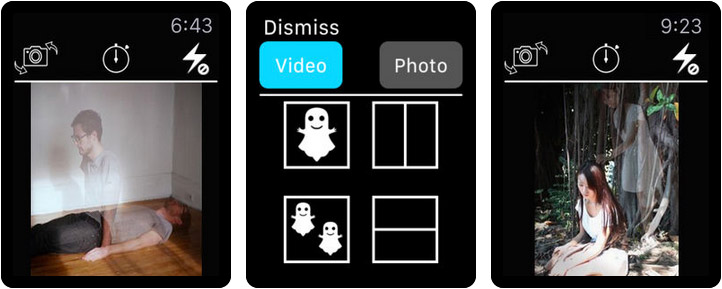 Ghost Lens AR Fun Movie Maker Apple Watch Photo App Screenshot