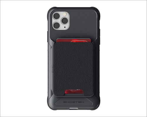Ghostek Magnetic Leather Card Holder Case for iPhone 11 Pro Max