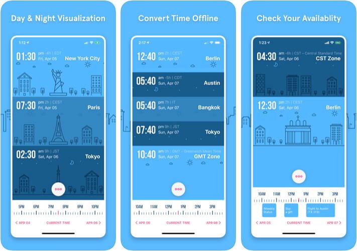 GlobeTempus Convert Time Zone iPhone and iPad App Screenshot