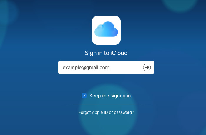 Go to iCloud Web and Sign in with Apple ID