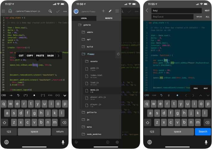 GoCoEdit iPhone and iPad HTML Editor App Screenshot