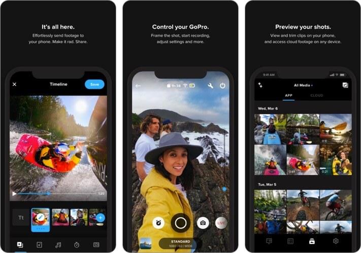 GoPro Video Editing iPhone and iPad App Screenshot