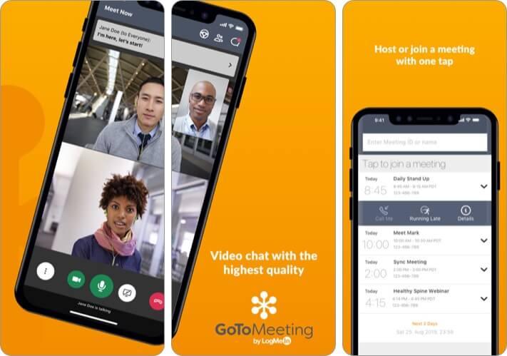 GoToMeeting iPhone and iPad App Screenshot