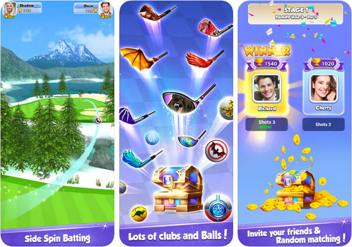 Golf Rival iPhone and iPad Game Screenshot