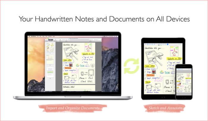 GoodNotes Mac Note Создание снимка экрана приложения