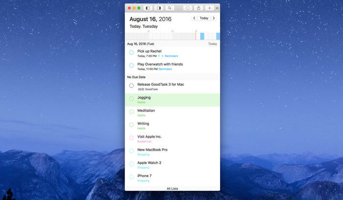 GoodTask 3 Mac Task Management App Screenshot