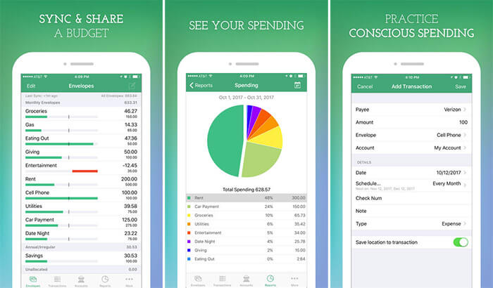 Goodbudget Budget Planner iPhone and iPad App Screenshot