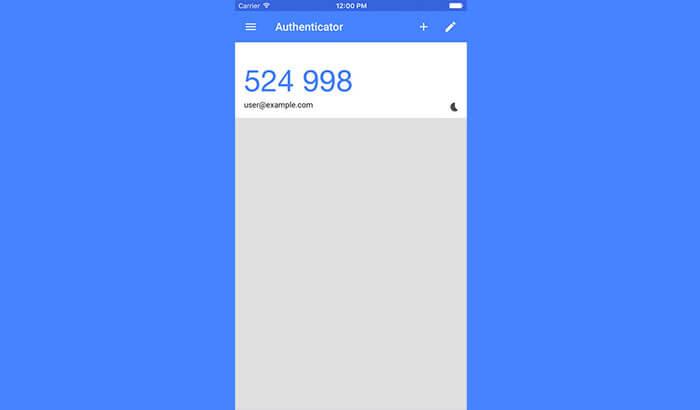 Google Authenticator iPhone and iPad App Screenshot