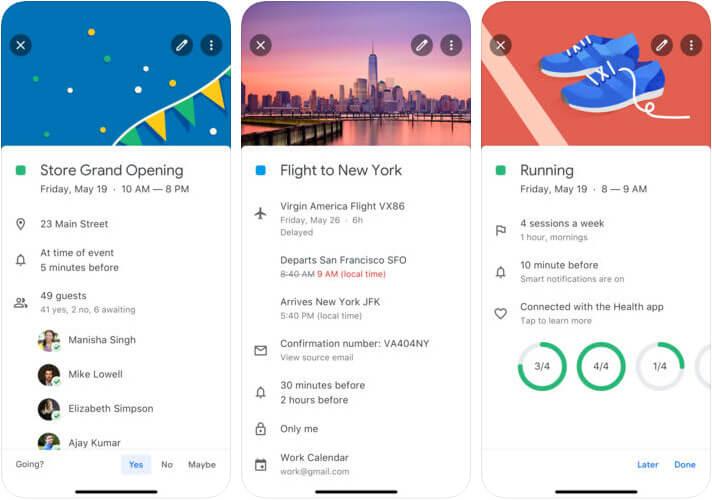 Google Calendar iPhone and iPad App Screenshot