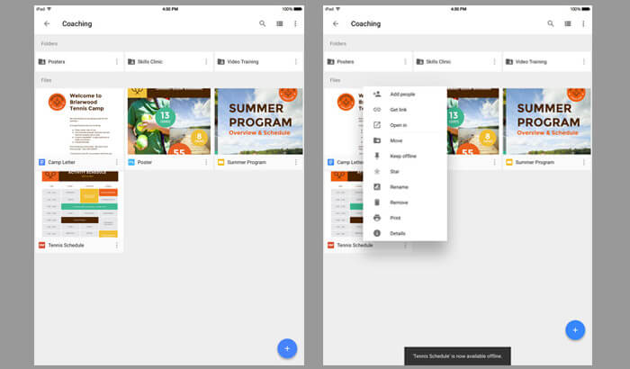 Google Drive iPhone and iPad App Screenshot