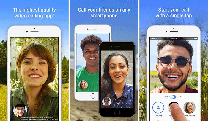 Google Duo FaceTime Alternative iPhone App Screenshot