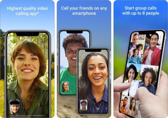 Google Duo iPhone and iPad App Screenshot