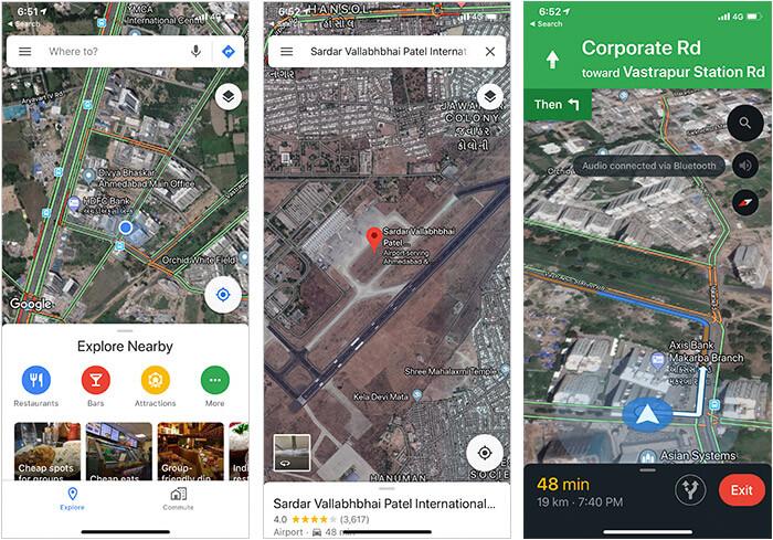 Google Maps iPhone and iPad App Screenshot