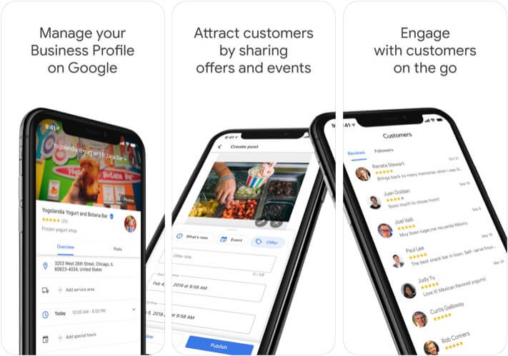 Google My Business Marketer App for iPhone and iPad