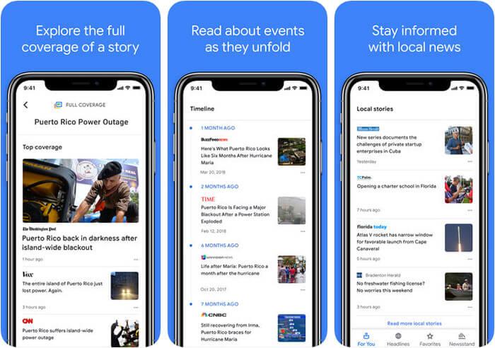 Google News iPhone and iPad App Screenshot