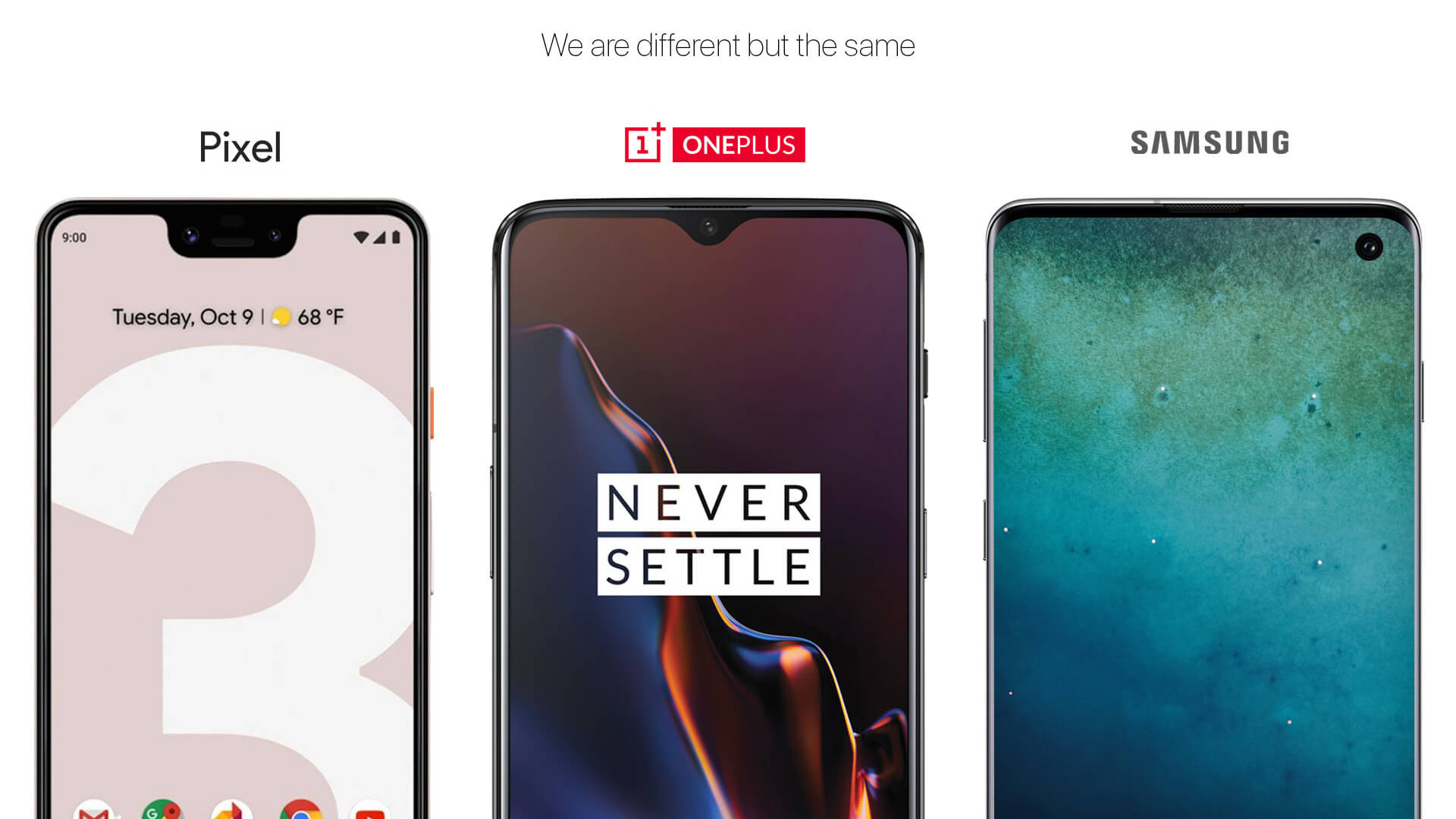 Google, OnePlus and Samsung copy iPhone Notch Design