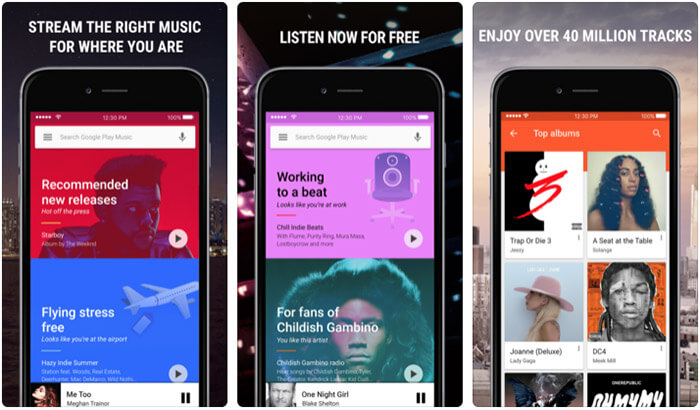 Google Play Music iPhone and iPad App Screenshot