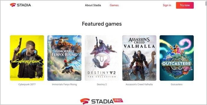 Google Stadia to play PC games on Mac