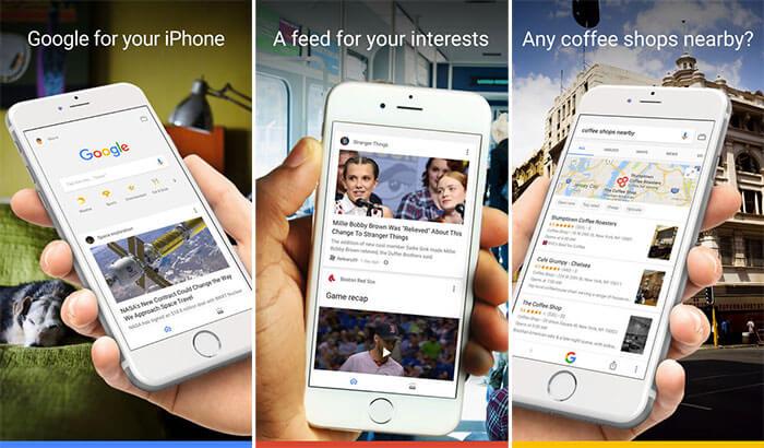 Google iPhone and iPad App Screenshot