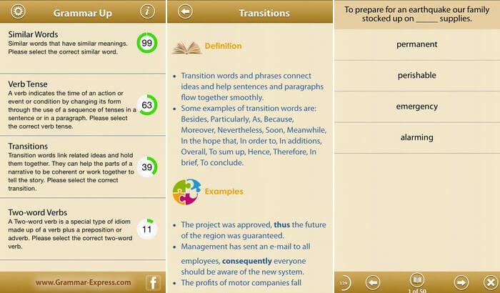 Grammar Up iPhone and iPad App Screenshot