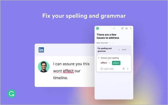 Grammarly Google Chrome extension