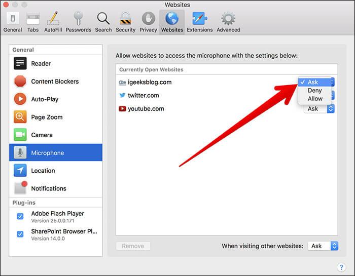 Grant Microphone Access to Safari on Mac