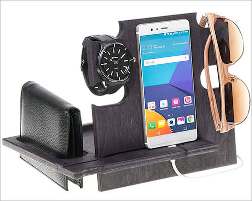 Greta Oto iPhone Xs Max, Xs, and iPhone XR Wooden Docking Station
