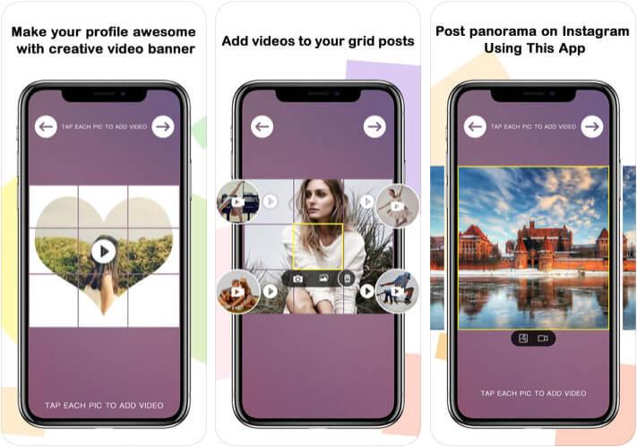 Grid Post Maker for Instagram iPhone App Screenshot