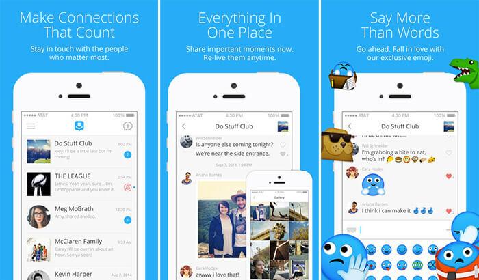 GroupMe Social Media iPhone and iPad App Screenshot