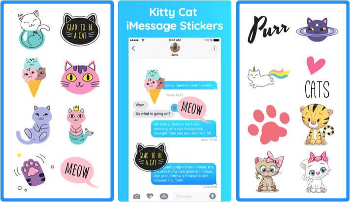 Growly Cat Stickers Emoji iMessage App Screenshot