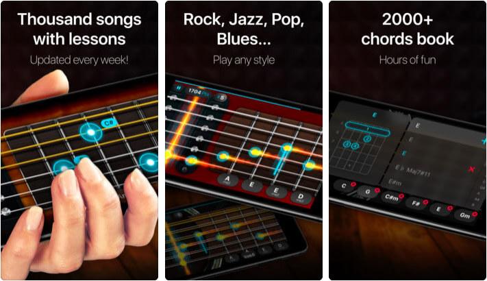 Guitar-real games & lessons iPhone and iPad App Screenshot