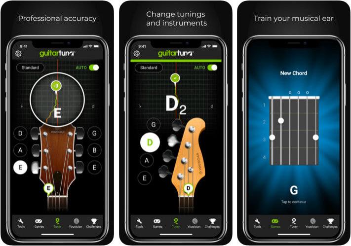 GuitarTuna iPhone and iPad App Screenshot