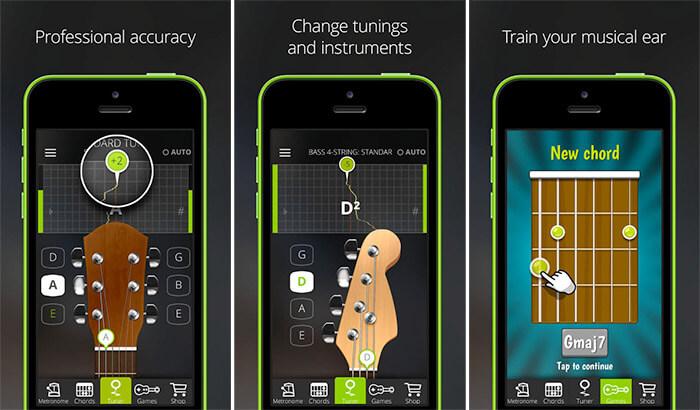 GuitarTuna iPhone and iPad App Screenshots