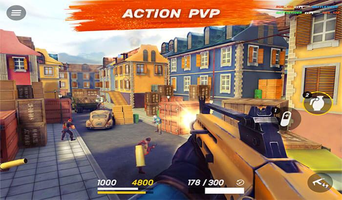 Guns of Boom iPhone and iPad Game Screenshot