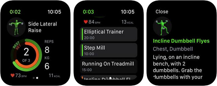 Gymaholic Workout Tracker Apple Watch App Screenshot